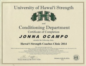 hawaii strength coaches clinic 2014